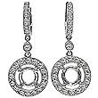 Diamond drop earrings 14K Gold