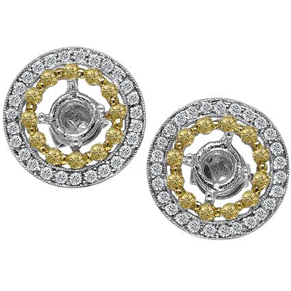 Diamond drop earrings Platinum
