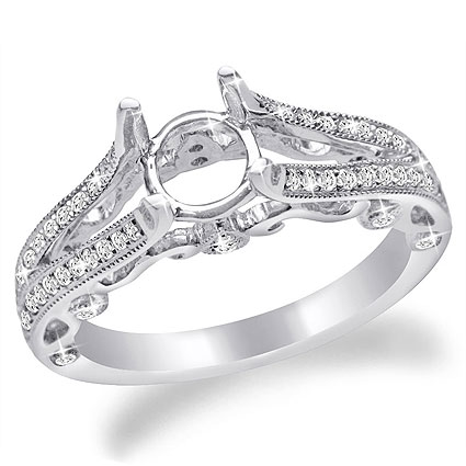 Vintage Engagement Ring in 14K Gold